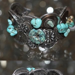 Jewelry - Chico Navajo Turquoise Sterling Silver Cuff  Brace